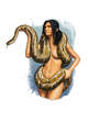 Filler spot colour - character: serpent priestess - RPG Stock Art