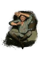 Filler spot colour - character: village prisoner - RPG Stock Art