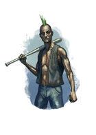 Filler spot colour - character: spriggan punk - RPG Stock Art