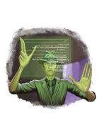 Filler spot colour - character: sci-fi detective - RPG Stock Art