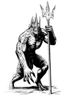 Character ink - deep one - RPG Stock Art