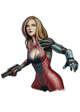 Filler spot colour line - character: cyborg girl - RPG Stock Art