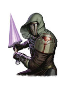 Filler spot colour line - character: fallen warrior - RPG Stock Art