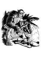 Filler spot - character: ogre campfire - RPG Stock Art
