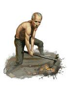 Filler spot colour - character: miner prisoner - RPG Stock Art