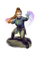 Filler spot colour - character: gnome bard - RPG Stock Art