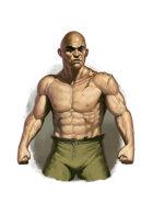 Filler spot colour - character: enforcer prisoner - RPG Stock Art