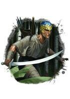Filler spot colour - character: emere warrior - RPG Stock Art