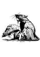 Filler spot - creature: giant rats eating - RPG Stock Art