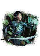 Filler spot colour - character: elf spellsword - RPG Stock Art