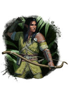 Filler spot colour - character: elf archer - RPG Stock Art