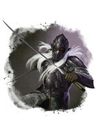 Filler spot colour - character: drow knight - RPG Stock Art