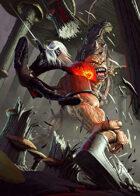 Cover full page - Dark Elf vs Ogre - RPG Stock Art