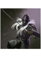 Colour card art - character: drow knight - RPG Stock Art