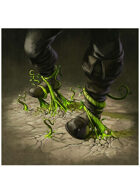 Colour card art - spell: entangling roots - RPG Stock Art