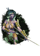 Filler spot colour - character: night elf archer - RPG Stock Art