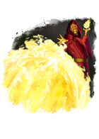 Filler spot colour - spell: fireball - RPG Stock Art