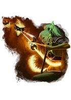 Filler spot colour - event: mage vs fire elemental - RPG Stock Art