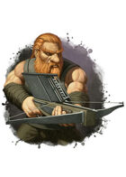 Filler spot colour - character: dwarf with railbow - RPG Stock Art