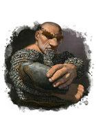 Filler spot colour - character: dwarf flame priest - RPG Stock Art