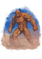 Filler spot colour - character: earth elemental - RPG Stock Art