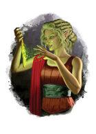 Filler spot colour - character: elf enchanter - RPG Stock Art