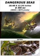 Cover full page - Dangerous Seas - RPG Stock Art