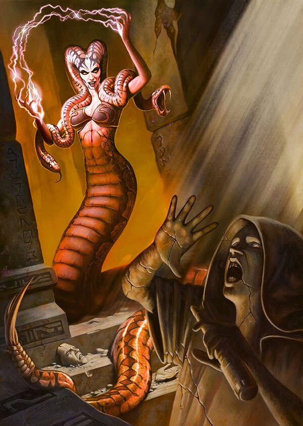 Cover full page - Gorgon Sorceress - RPG Stock Art