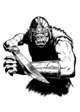 Filler spot - character: orc warrior (old school look) - RPG Stock Art