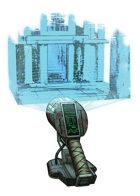 Filler spot colour line - items: handheld holographic cartographer - RPG Stock Art