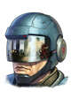Filler spot colour line - items: proximity helmet - RPG Stock Art
