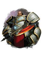 Filler spot colour - character: dwarven rune armour - RPG Stock Art