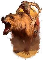 Filler spot colour - character: varg riding bear mount - RPG Stock Art