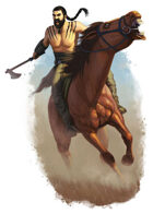 Filler spot colour - character: barbarian horse lord - RPG Stock Art