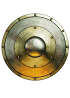 Filler spot colour - items: shield: round metal - RPG Stock Art