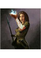 Colour card art - spell: magical mishap - RPG Stock Art