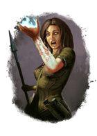 Filler spot colour - spell: magical mishap - RPG Stock Art