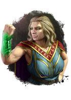 Filler spot colour - character: dwarf mage: casting jade armour - RPG Stock Art