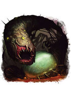 Filler spot colour - creature: shoggoth spawn - RPG Stock Art