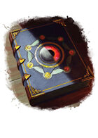 Filler spot colour - items: book of magic - RPG Stock Art