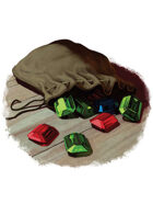 Filler spot colour - items: gem pouch - RPG Stock Art