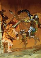 Cover full page - Monster Hunters VS Manticore - RPG Stock Art