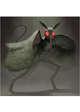 Colour card art - character: humanoid moth - RPG Stock Art