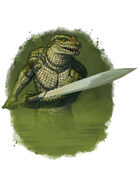 Filler spot colour - character: humanoid crocodile - RPG Stock Art