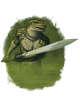 Filler spot colour - character: humanoid crocodile - RPG Stock Art