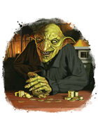 Filler spot colour - character: goblin merchant - RPG Stock Art
