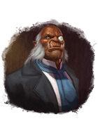 Filler spot colour - character: gentleman orc - RPG Stock Art