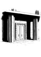 Filler spot - environment: mausoleum entrance - RPG Stock Art