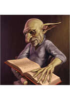 Colour card art - character: goblin scholar - RPG Stock Art
