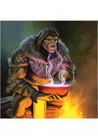 Colour card art - character: orc shaman - RPG Stock Art